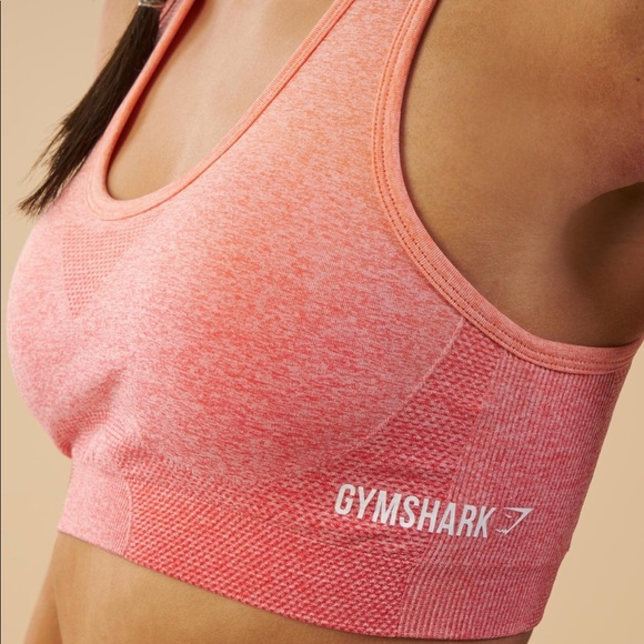 58327953aecb Gymshark Ombre Seamless Sports Bra Peach Coral